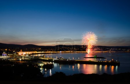Fireworks at Douglas Bay Isle of Man