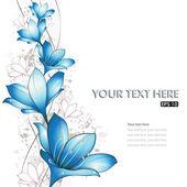 Blue lilies design
