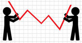 Symbolical image of lifting of economic indicators