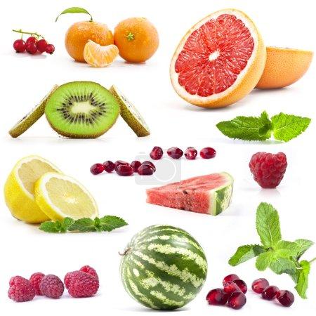 Photo pour Fruit Collection sur fond blanc - image libre de droit