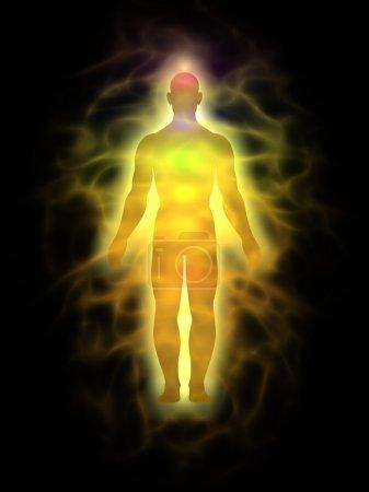 Human aura - man silhouette
