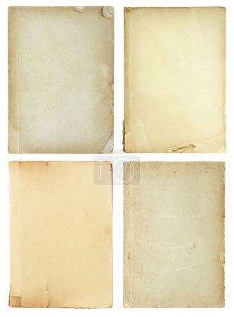 Photo for Set of old book pages isolated on white background - Royalty Free Image