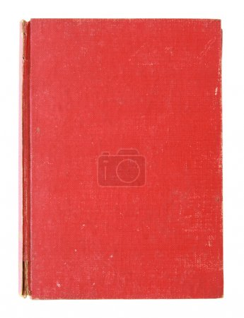 Photo for Old red cover book isolated over white with clipping path - Royalty Free Image