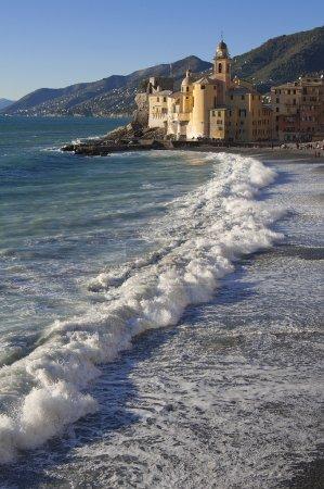 The beautiful village of Camogli,near Genoa,Italy