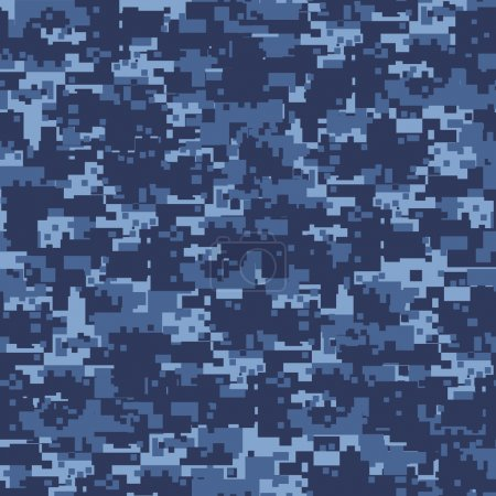 Foto de Patrón sin costuras Militar camuflaje azul. - Imagen libre de derechos
