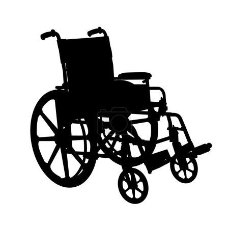 Illustration pour Silhouette en fauteuil roulant - image libre de droit