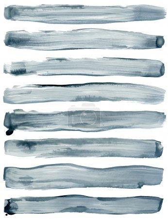 Foto de Trazos de pincel de acuarelas pintadas. aislado sobre fondo blanco. - Imagen libre de derechos
