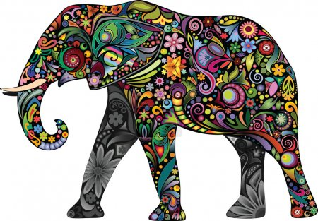 The cheerful elephant