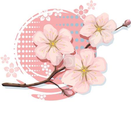 Illustration for Blossom Sakura Cherry Including Vector Format - Royalty Free Image