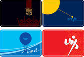 Set of VIP Template Cards