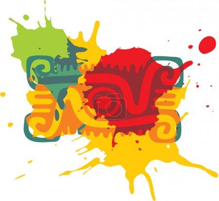 Mexican Style Design Element - Paint Splats