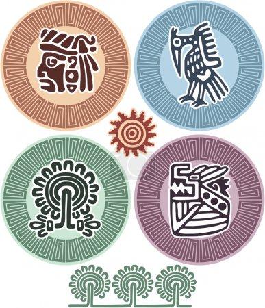 Vector Set of Mexican Design Elements
