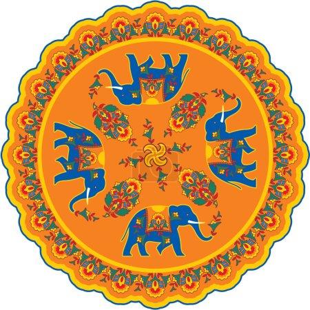 Indian Elephant Pattern Rosette