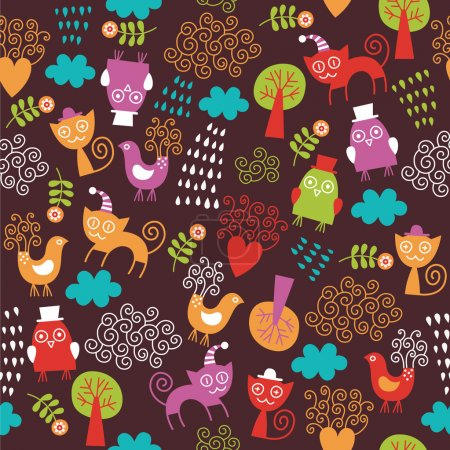 Cute seamless children pattern