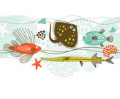 Fishes marine life