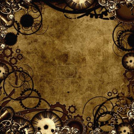 Photo pour Steampunk style texture de fond - image libre de droit