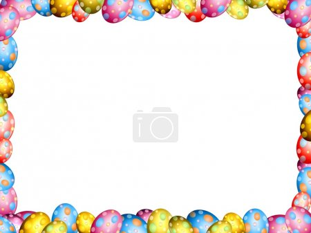 Easter eggs border frame