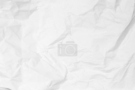 Photo pour Fond de papier froissé blanc - image libre de droit