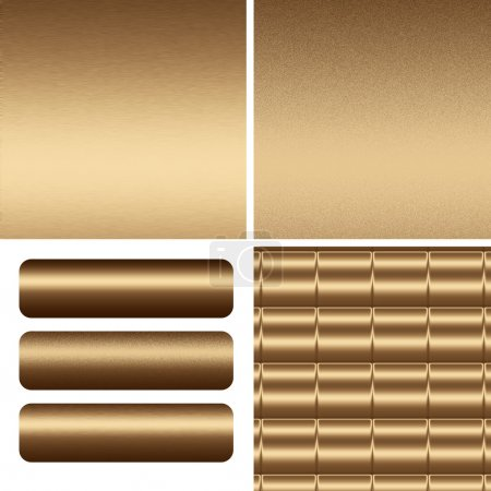 Gold textured,metal backgrounds and boards to insert text or web design