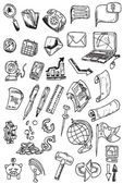 Hand draw money icon collection vector eps10