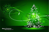 Merry Christmas green vector creative background