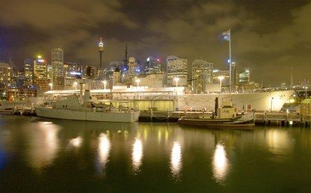 Battleship HMAS Vampire in Sydney