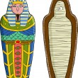 The sarcophagus on a white background vector illus...
