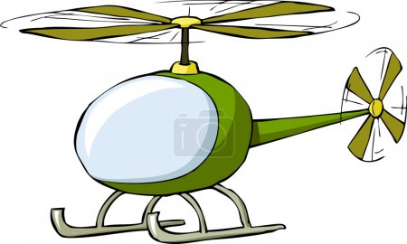 Illustration for Helicopter on a white background, vector illustration - Royalty Free Image