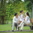 Happy Asian Family enjoying their time in the park...
