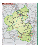 Rheinland-Pfalz Umgebungskarte gruen