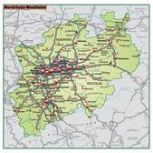 Nordrhein-Westfalen Umgebungskarte gruen