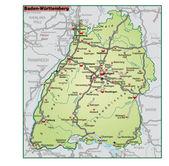 Baden-Württemberg Umgebungskarte gruen