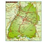 Bundesland Baden Württemberg als Umgebungskarte i...