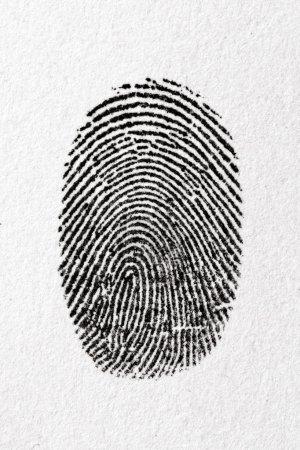 Fingerprint on a paper