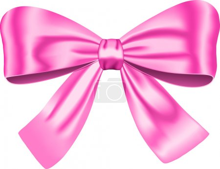 Illustration for Pink gift bow isolated on white background. Vector illustration. Ribbon - Royalty Free Image