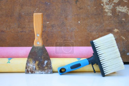 Painting and decorating tools.