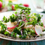 Broccoli,radish and feta salad with quinoa...