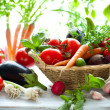Different fresh vegetables on the table...