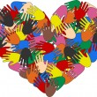 A heart ful of colorful hands...