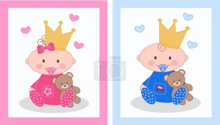 Illustration for Baby announcement or birthday - Royalty Free Image