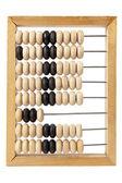 Wooden scores on white background