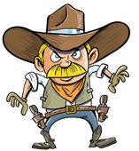 Cute cartoon cowboy with a gun belt