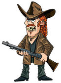 Cartoon redneck with a rifle