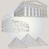 Famous buildings 1 - vector