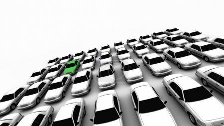 Forty Cars, One Green!