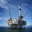 Large Pacific Ocean oil rig drilling platform off ...