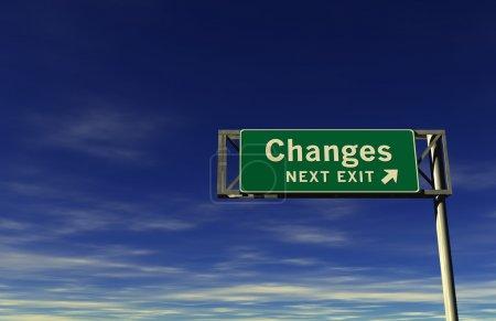 Photo pour Super haute résolution 3d render du signe de l'autoroute, ensuite sortie... des changements! - image libre de droit