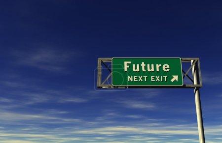 Super high resolution 3D render of freeway sign, n...