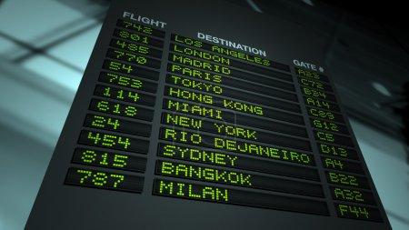 Airport Flight Information Board