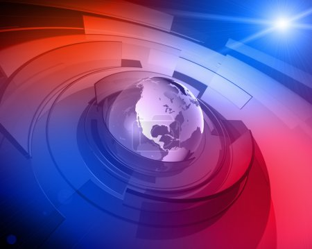 World Globe 3D Design Background